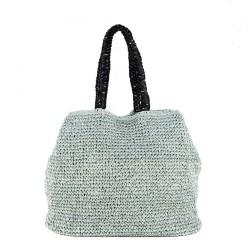 Bolso de hombro Populares Azul, algodón