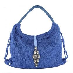 Bolsa de ombreiro, Joanna Azul, algodón