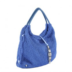 Shoulder bag, Joanna Blue, cotton