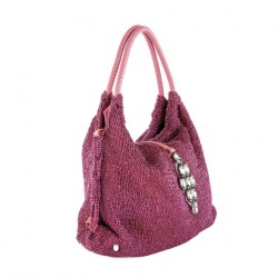 Shoulder bag, Joanna Fuchsia, cotton