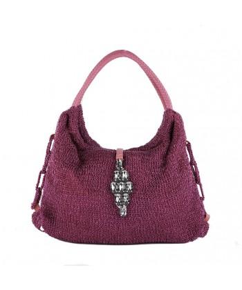 Shoulder bag, Joanna Fuchsia, cotton