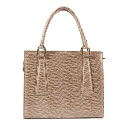 Hand bag, Patrizia Beige, leather