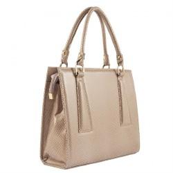 Hand bag, Patrizia Beige, leather