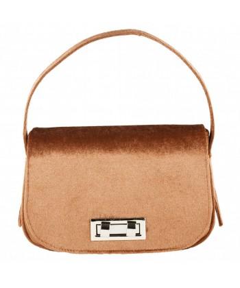 Hand bag, Belina beige, velvet