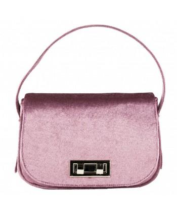 Bolso de mano, Belina púrpura, de terciopelo