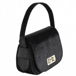 Handtasche, Belina, schwarz, samt