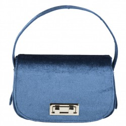 Bolso de mano, Belina azul, de terciopelo