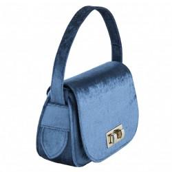 Hand bag, Belina blue, velvet