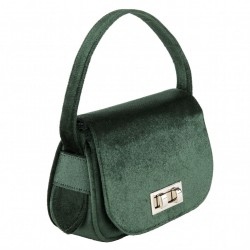 Hand bag, Belina green, velvet