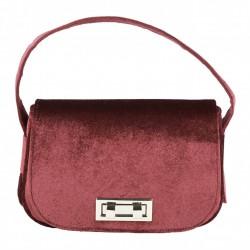 Hand bag, Belina red velvet