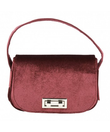 Hand bag, Belina red velvet