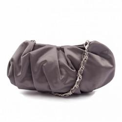 Borsa clutch, Ivette Grigia, in raso