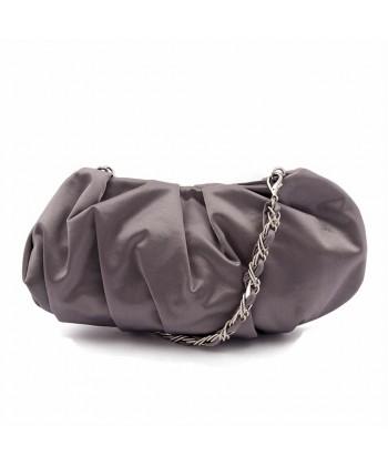 Bolsa de embrague, Ivette Gris, de raso