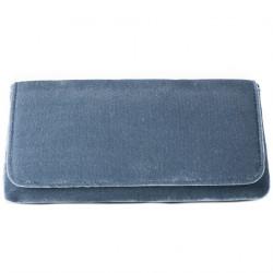 Borsa clutch, Mattea azzurra, in velluto