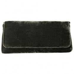 Bag clutch, Mattea green, velvet