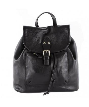 Hand bag, Brenda Black, genuine leather