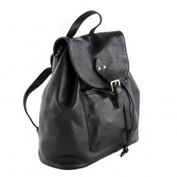 Hand bag, Brenda Black, genuine leather
