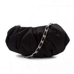 Bolsa de embreagem, Ivette Negro, de satén