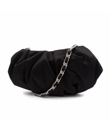 Bag clutch, Ivette Black, satin