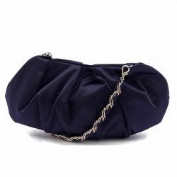 Bolsa de embrague, Ivette Azul, satén