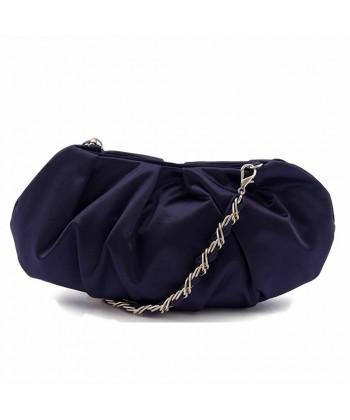 Bolsa de embreagem, Ivette Azul, de satén