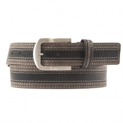 Belt, Lorenzo Black, leather, sport