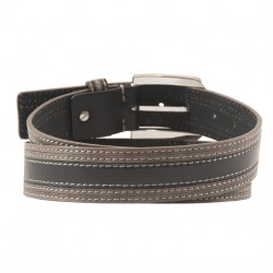 Belt, Lorenzo Black, leather, casual