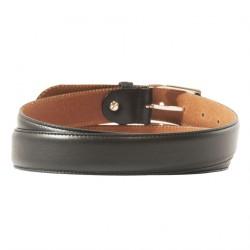 Belt, Leonardo Black, leather, classic