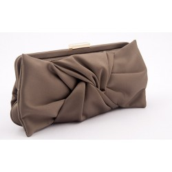 Bag clutch, Selene, Cappuccino, in satin