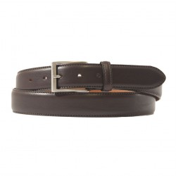 Belt, Leonardo Brown, leather, classic