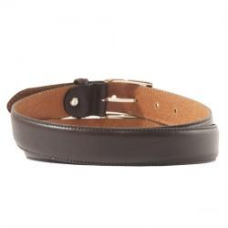 Belt, Leonardo Brown, leather, classic