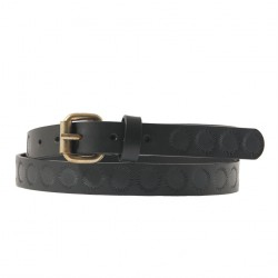 Belt Brando Black leather with printing, sports