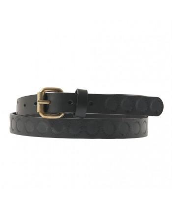 Cinturón de Brando de cuero Negro con impresión, deportes