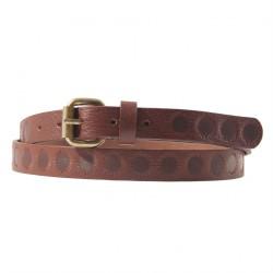 Cinturó de seguretat, Brando Marró, de pell, amb la impressió, esports