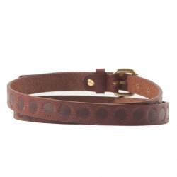Cintura, Brando Marrone, in pelle con stampa, sportiva