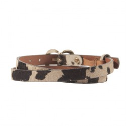 Belt, Lorraine Brown, leather cavallino, sports
