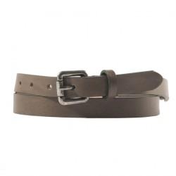 Cintura, Ludo Marrone, in pelle con inserti avorio, sportiva