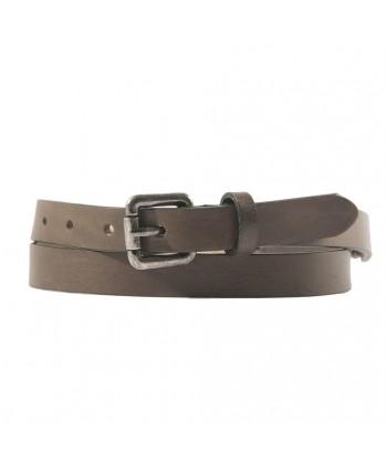 Cinturón de Hombre de cuero Marrón con marfil inserta, deportes
