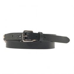Cintura, Ludo Nera, in pelle con inserti avorio, sportiva
