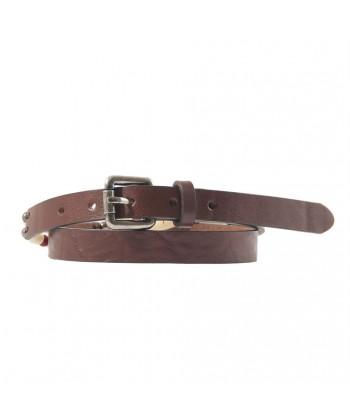 Cintura, Ludo Testa di Moro, in pelle con inserti avorio, sportiva