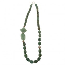 Collana, Demetra verde, in turchese e giada, made in Italy, limited edition