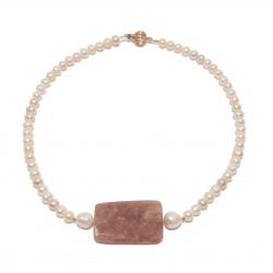 Collaret, Sabaudia, riu de perles, ònix i de plata, feta a Itàlia, edició limitada