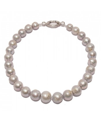 Collana, Ari, in perle grigie ed argento, made in Italy, limited edition