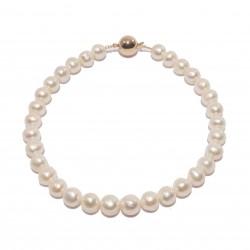 Collar, Angelina, perlas y plata, hecho en Italia, edición limitada