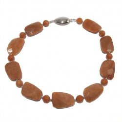 Necklace, Marine, aragonite, and silver, made in Italy, limited edition