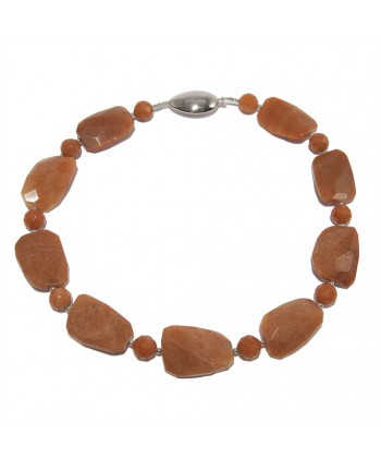 Collana, Marina, in aragonite ed argento, made in Italy, limited edition