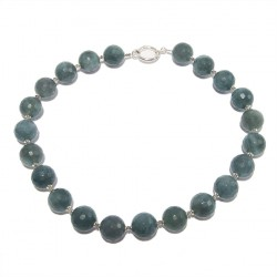 Collana, Licia, in agata, labradorite ed argento, made in Italy, limited edition