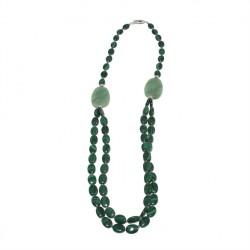 Collar, Lucrezia, piedras, crisocolla, el ópalo y la plata, hecho en Italia, edición limitada