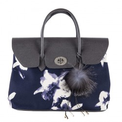 Hand bag, Bridget Blue, faux leather