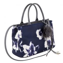 Hand bag, Agnes Blue, fabric
